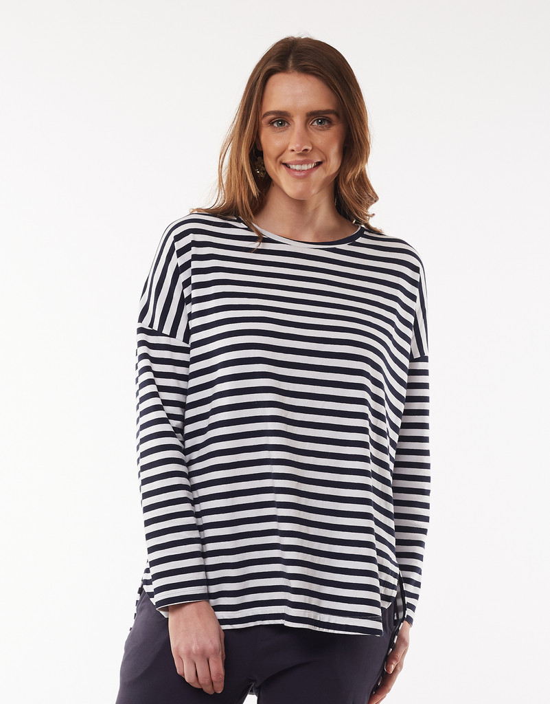 Elm Society Long Sleeve Tee Stripe