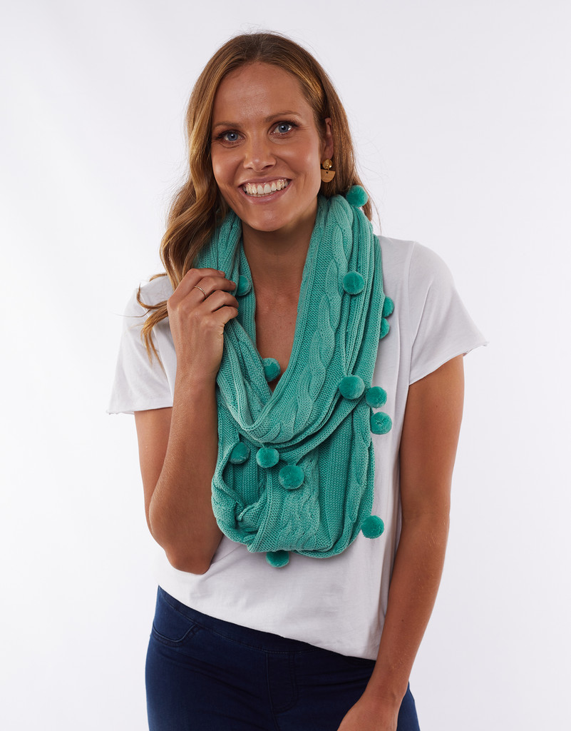 Elm Bobble Loop Scarf Mint