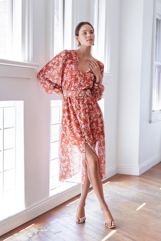 Wish Wisteria Midi Dress