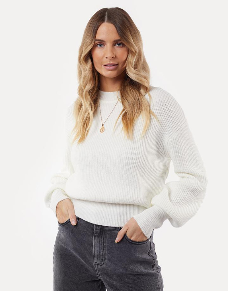 All About Eve Olivia Knit Sweater Bone