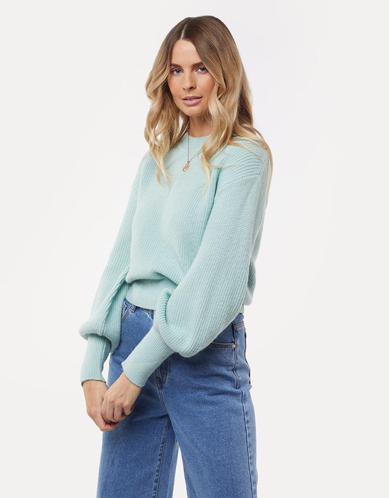 All About Eve Olivia Knit Sweater Light Green