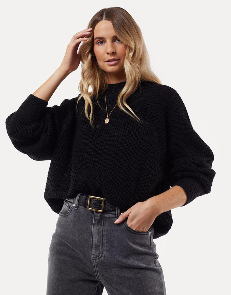 All About Eve Harper Knit Sweater Black