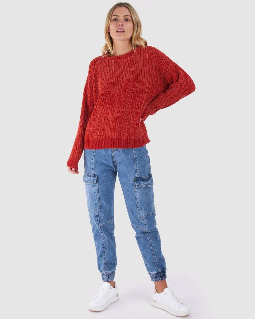 Sass Angie Knit Papaya