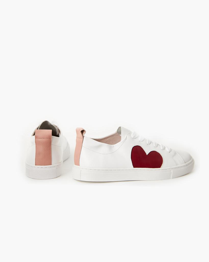 Walnut Melbourne Heart Leather Sneaker Plum