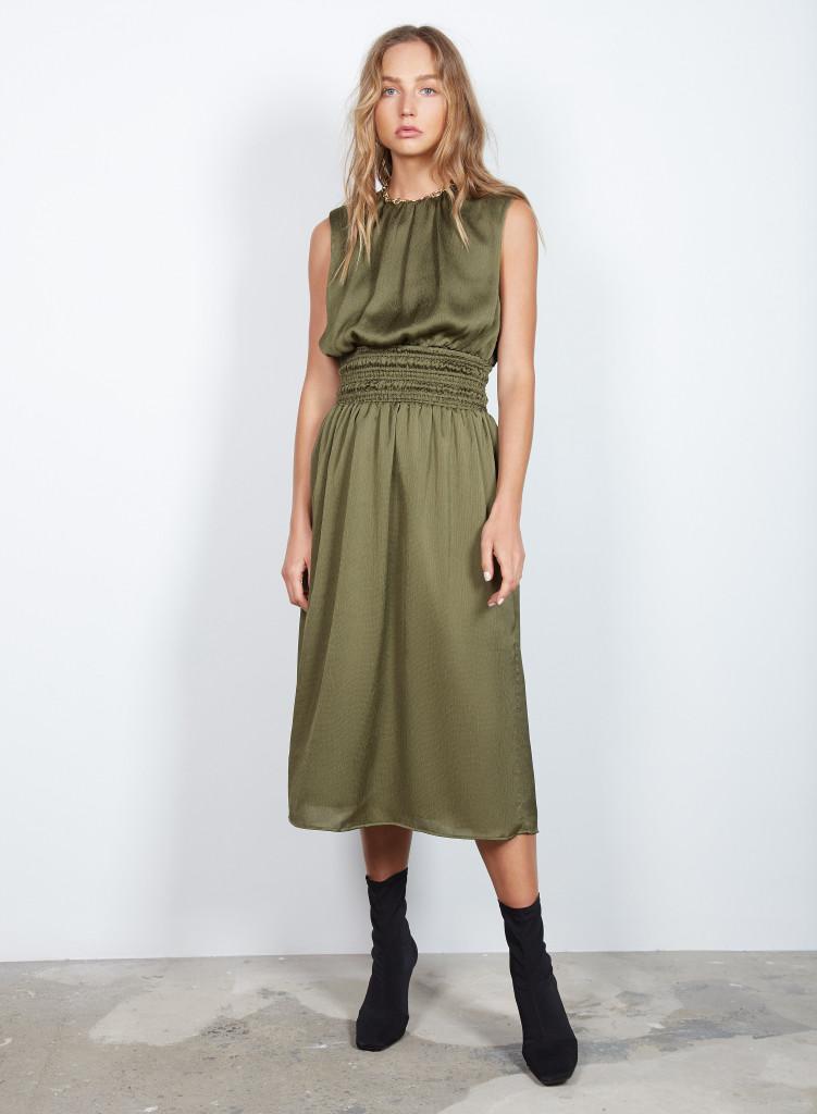 Wish Drifter Dress Khaki