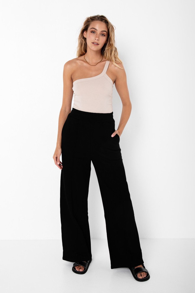 Madison The Label Fin Tracksuit Pant Black