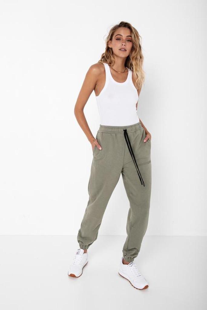 Madison The Label Morrison Tracksuit Pants Khaki