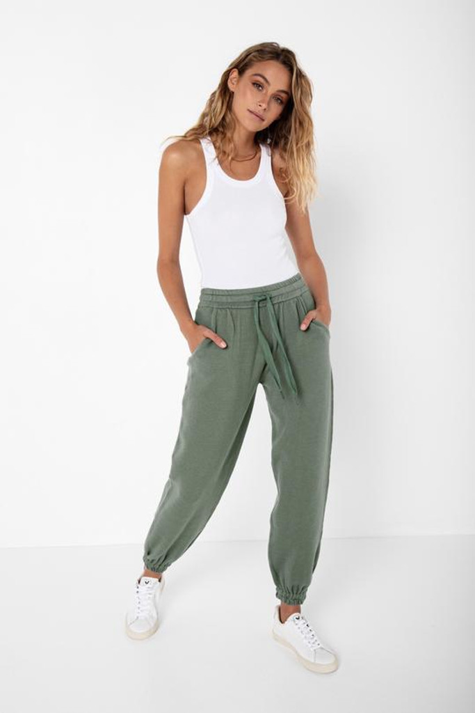 Madison The Label Helena Knit Joggers Sage