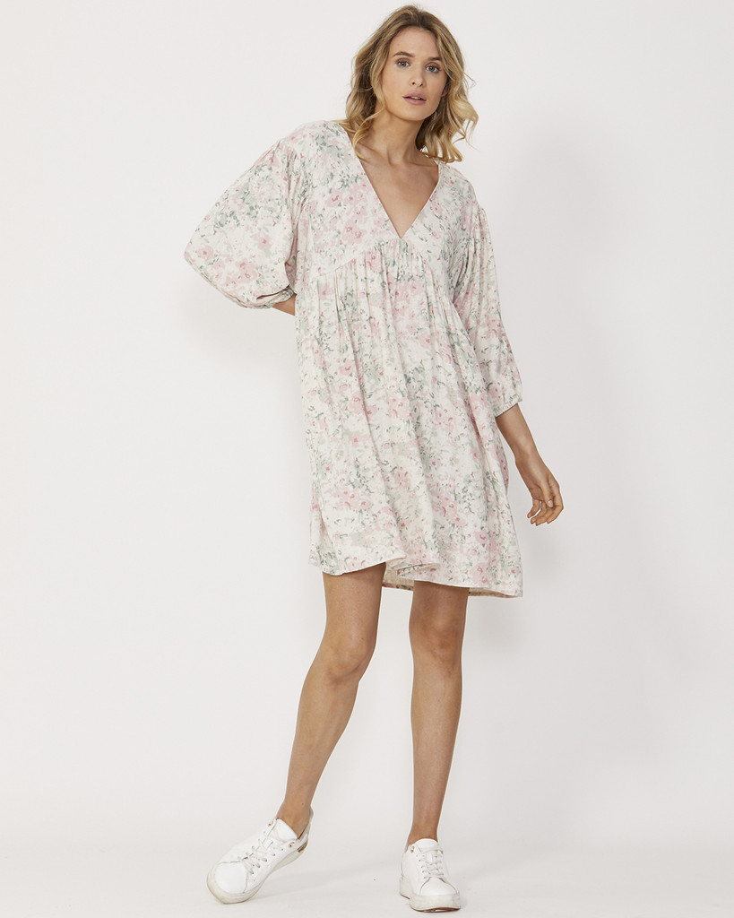 Sass Willa Dress Washed Floral
