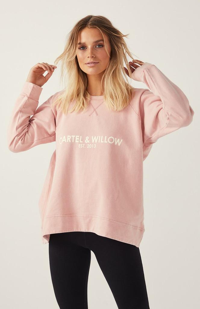 Cartel & Willow Gigi Sweater Pink Sandwash