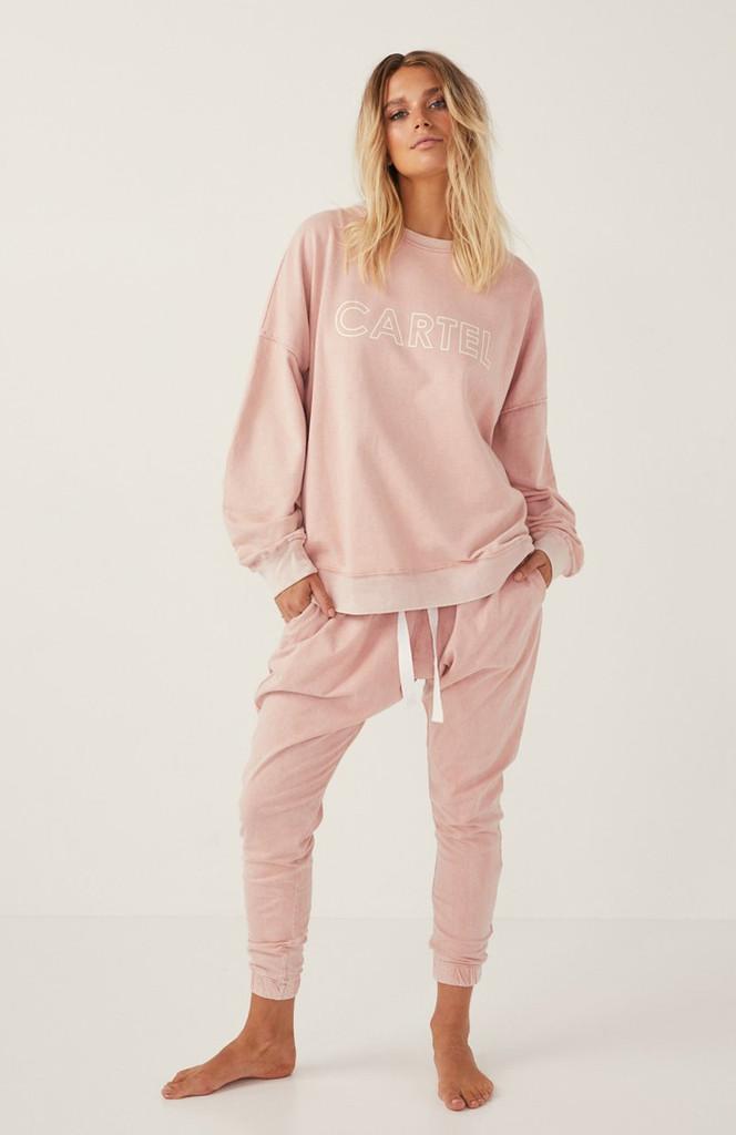 Cartel & Willow Comeback Pant Pink Sandwash