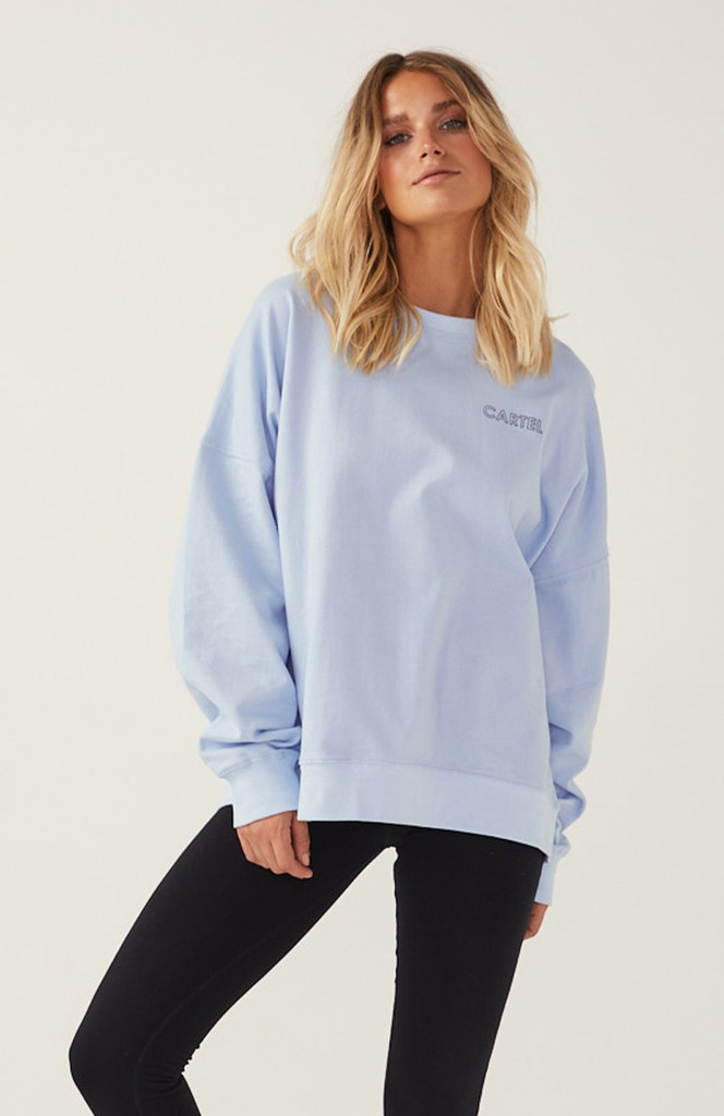 Cartel & Willow Piper Sweater Light Blue