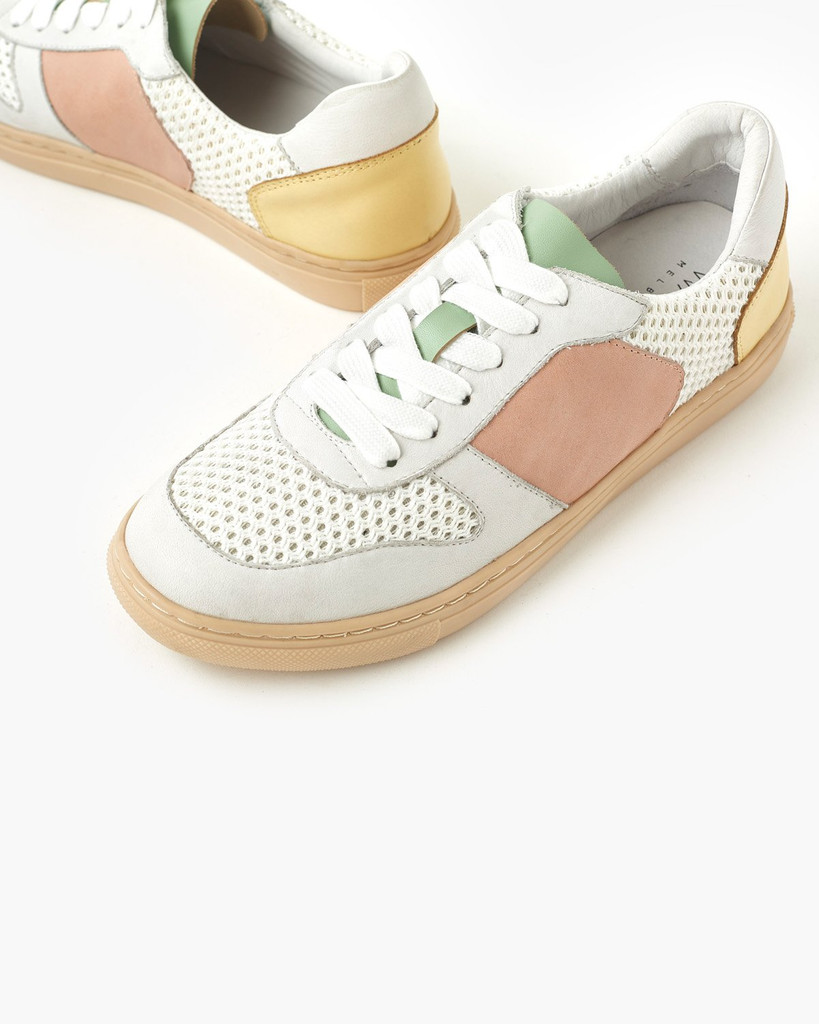 Walnut Melbourne Tao Leather Sneaker Yellow