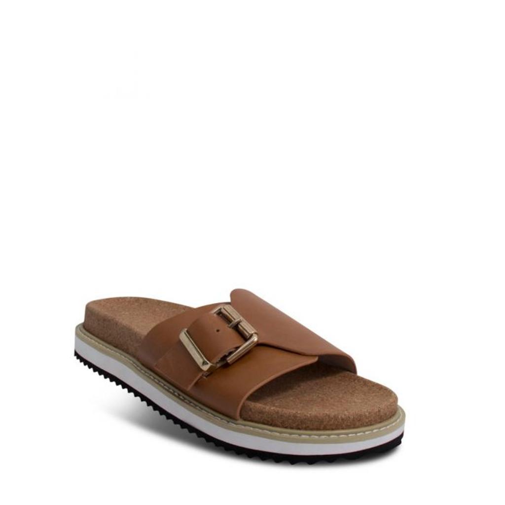 Nude Footwear Pearl Slide Tan