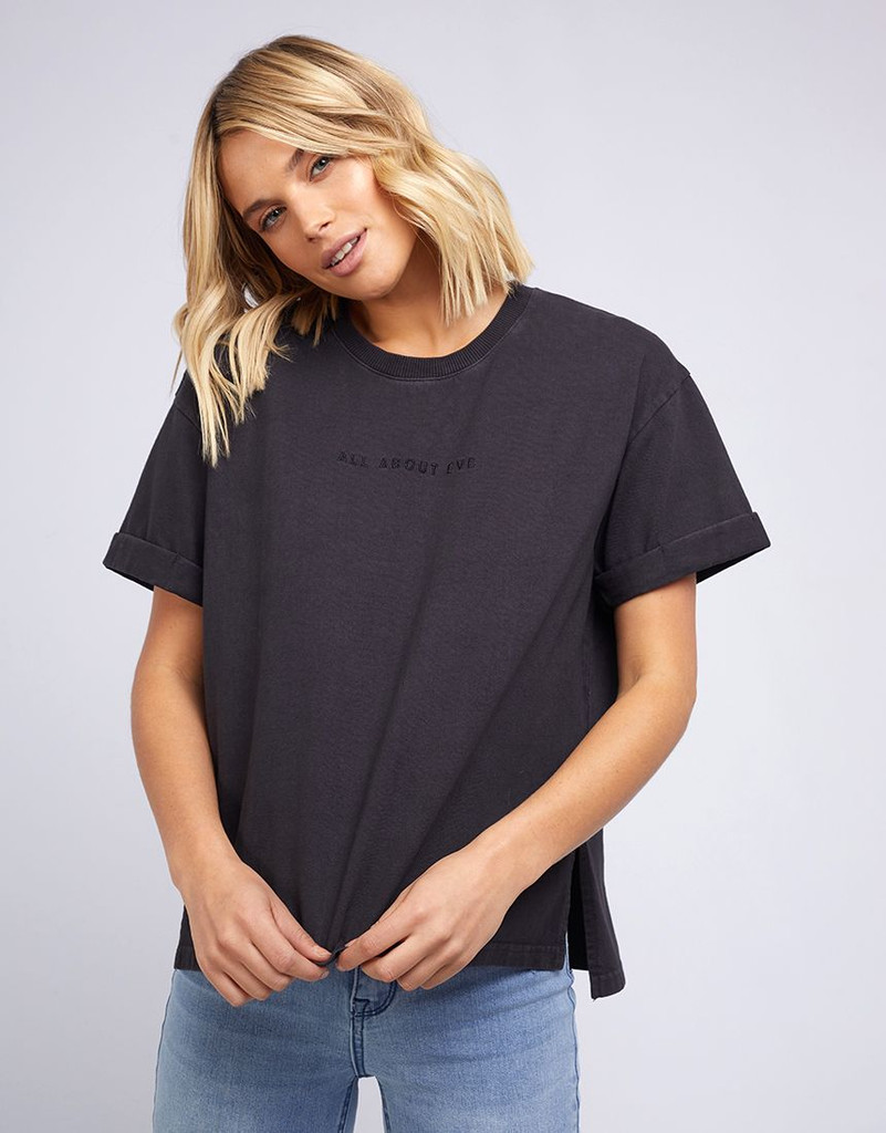 All About Eve Washed Tee Black