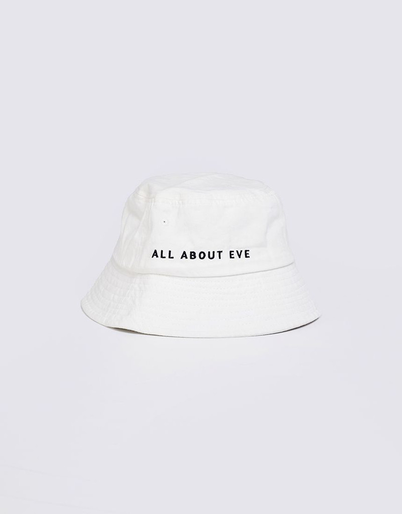 All About Eve Washed Bucket Hat White