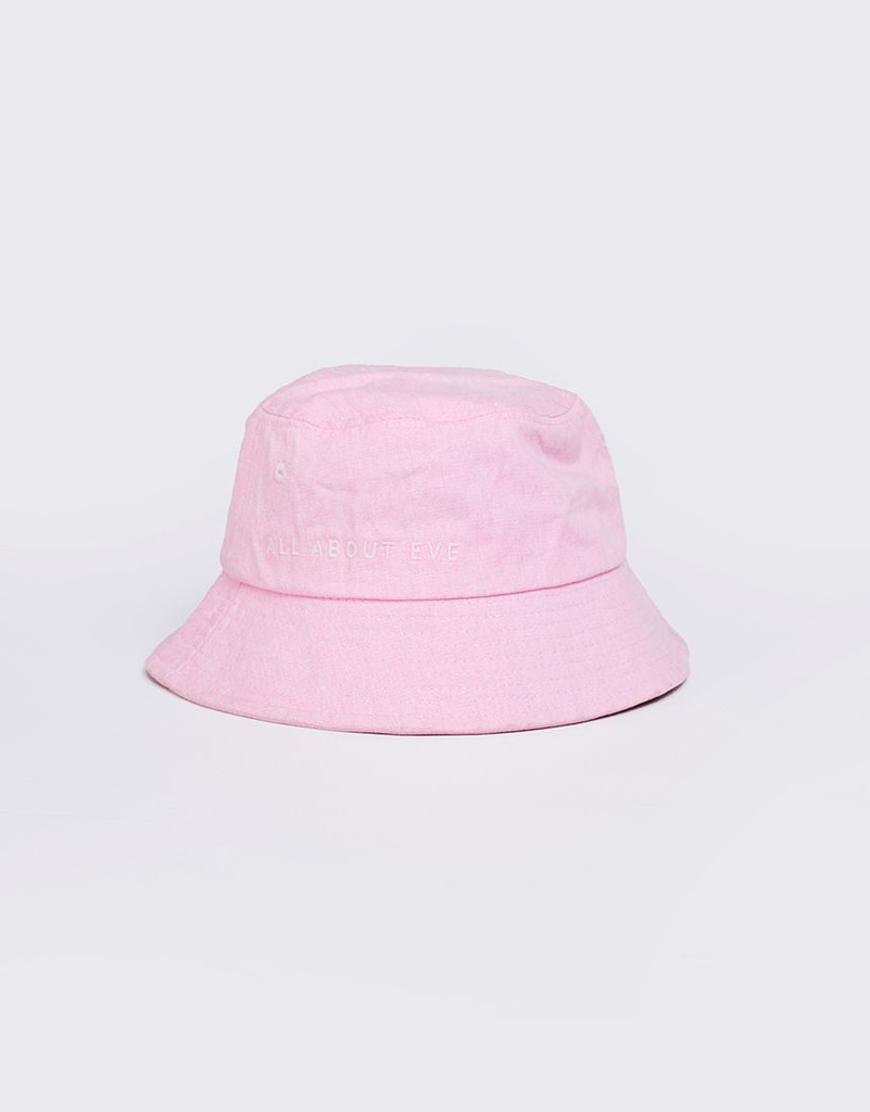 All About Eve Washed Bucket Hat Pink