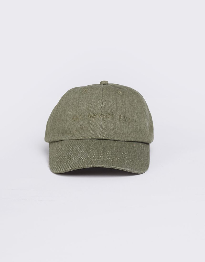 All About Eve Washed Cap Khaki