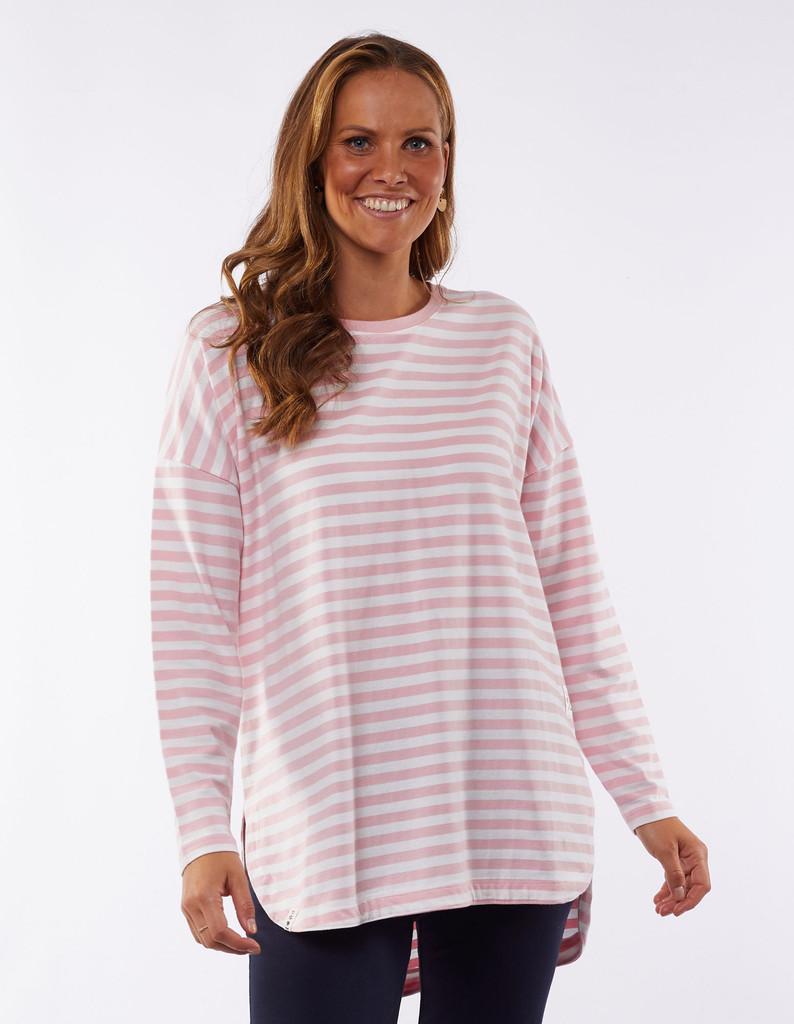 Elm Society Long Sleeve Tee Pink Stripe