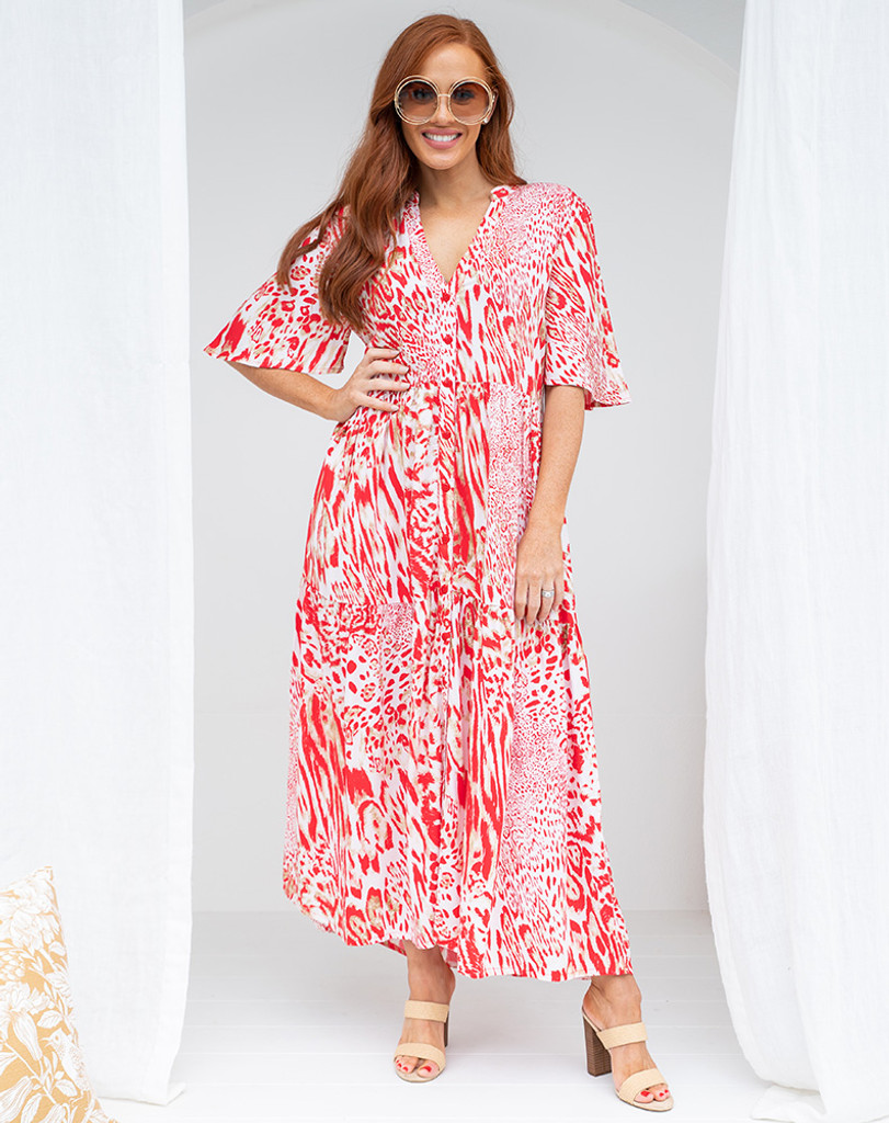 Bee Maddison Lizzy Dress Red