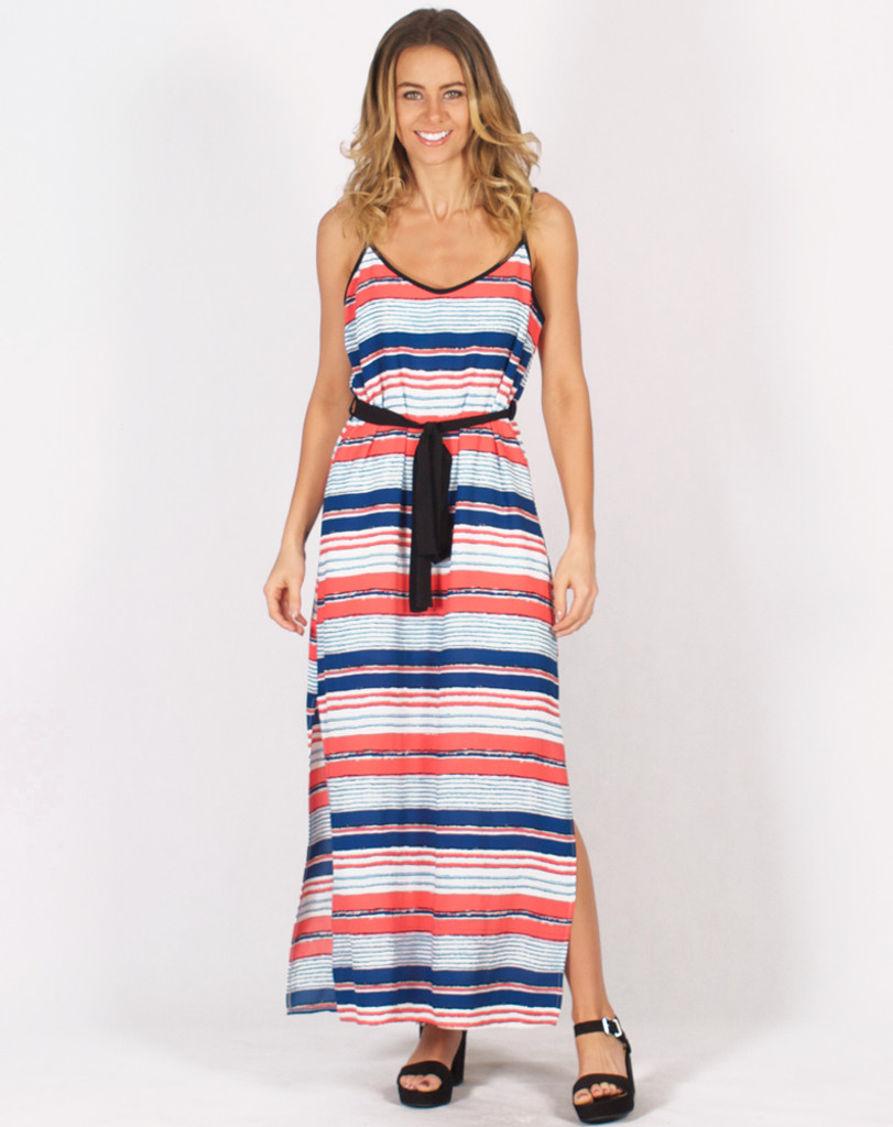 Freez Stripe Maxi Dress