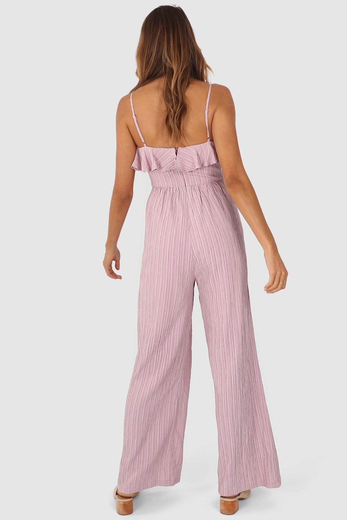 Lost In Lunar Tahnee Pantsuit Pink