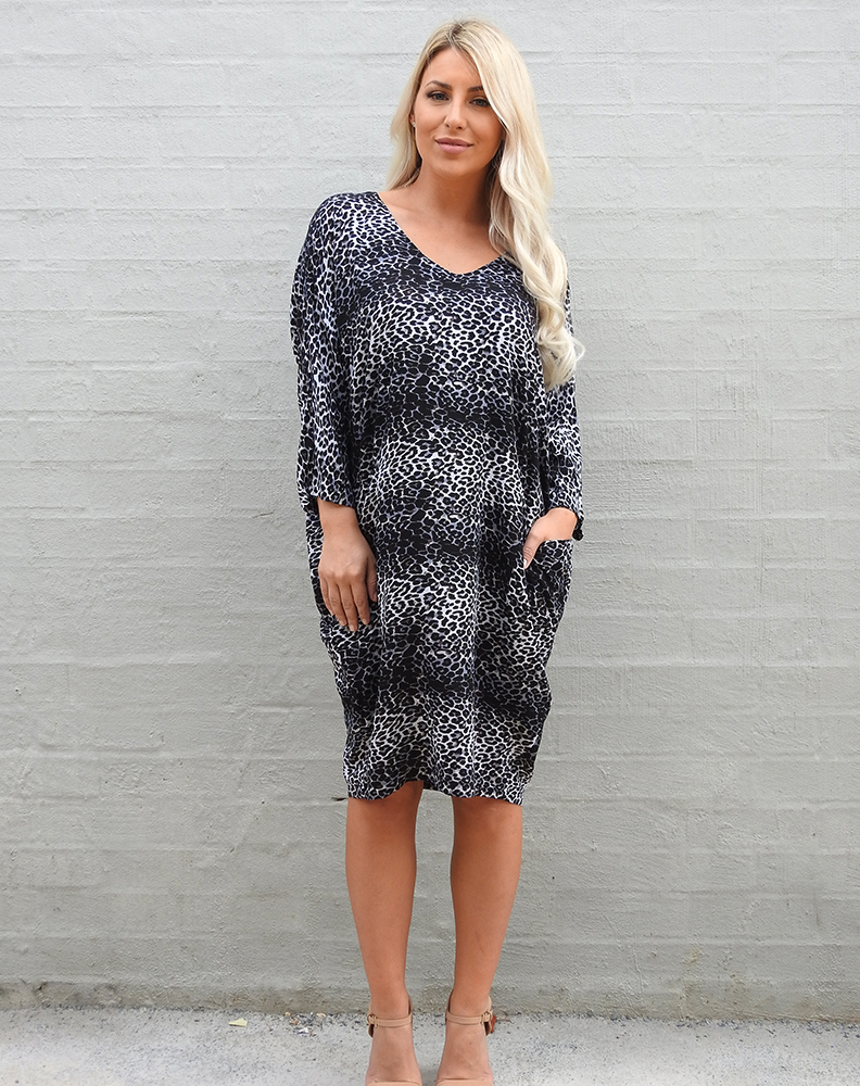 Freez Tunic Dress Animal Print