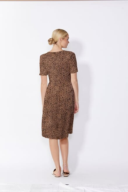 Sass Loren Dress Animal Print