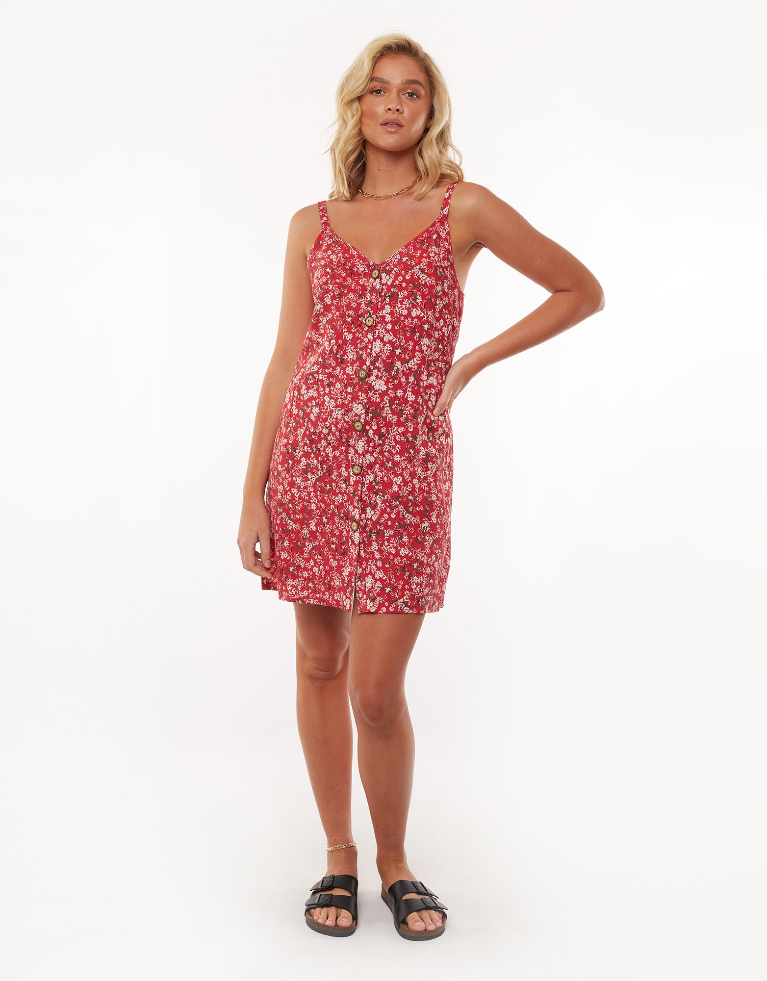 All About Eve Hand Painted Floral Dress