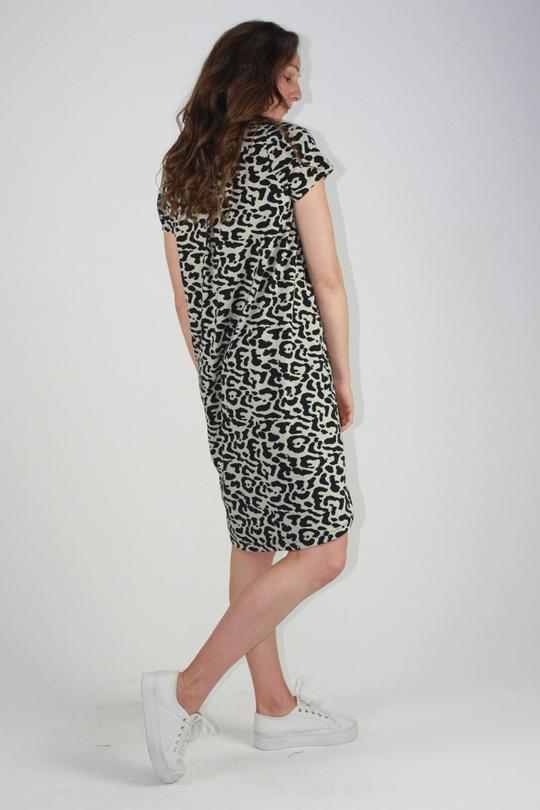 One Ten Willow Betty Dress Khaki Animal Print