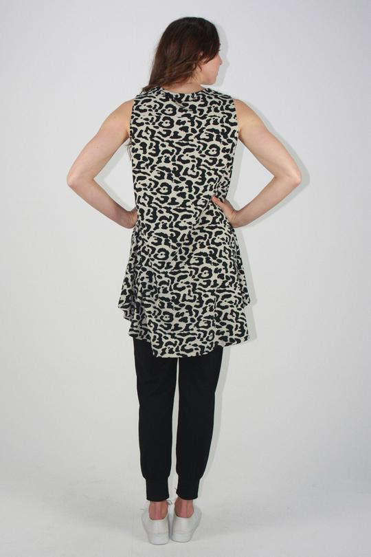 One Ten Willow DB Tank Khaki Animal Print