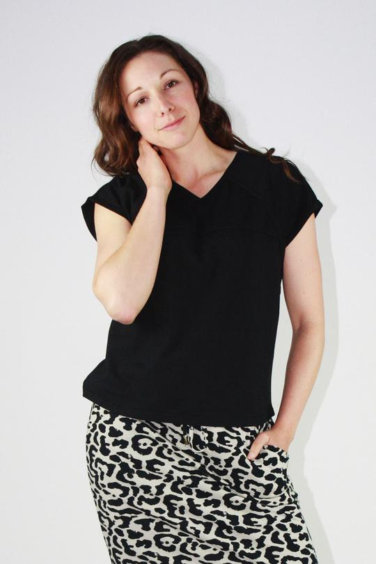 One Ten Willow Slouch Tee Black