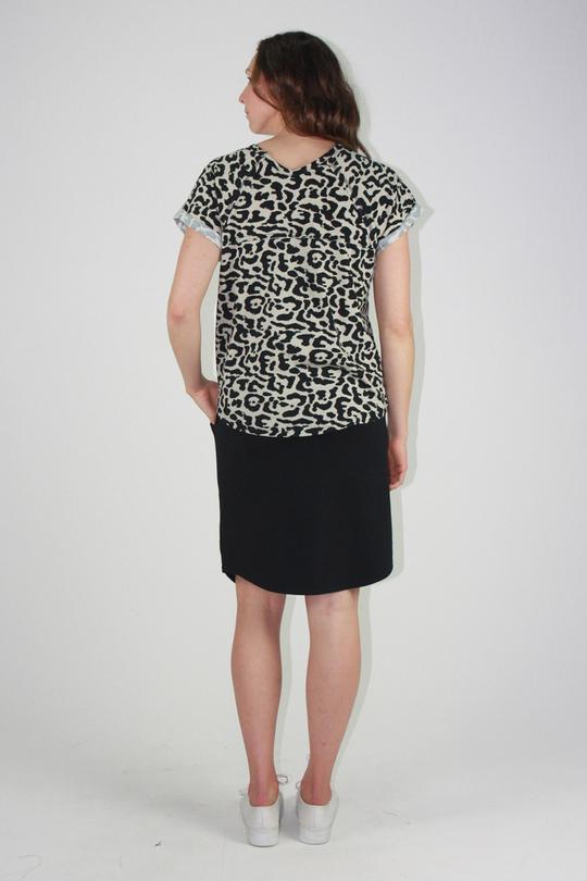 One Ten Willow Slouch Tee Khaki Animal Print