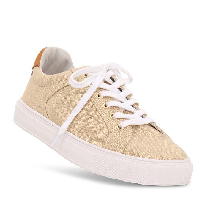 Nude Footwear Mae Sneaker Natural Linen