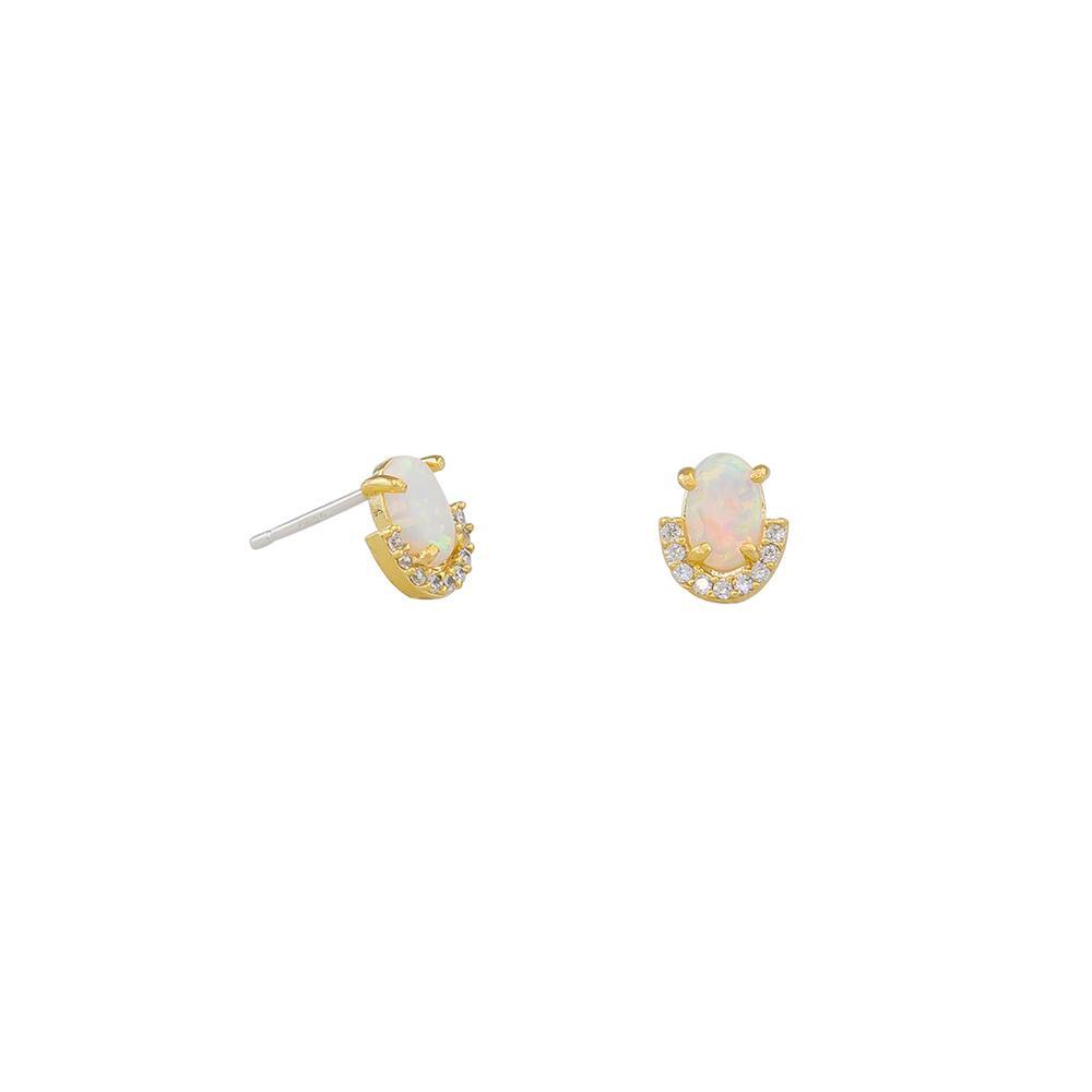 Jolie & Deen Opal Crystal Studs