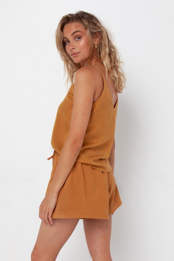 Madison The Label Calli Shorts Camel