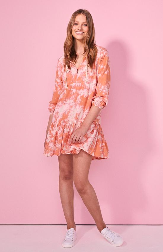 Cartel & Willow Cali Dress Orange Tye Dye