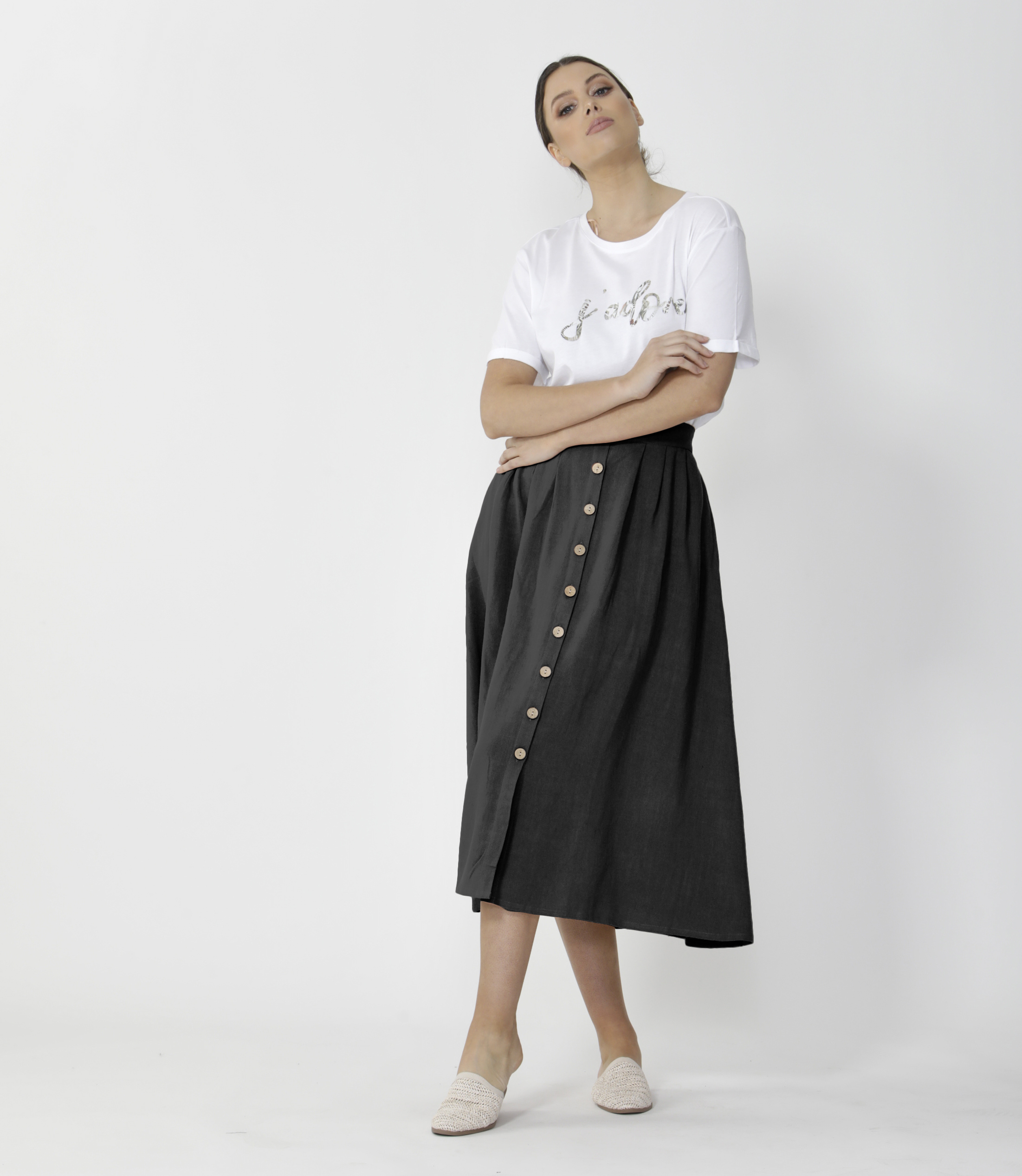 Sass Sutton Skirt Black