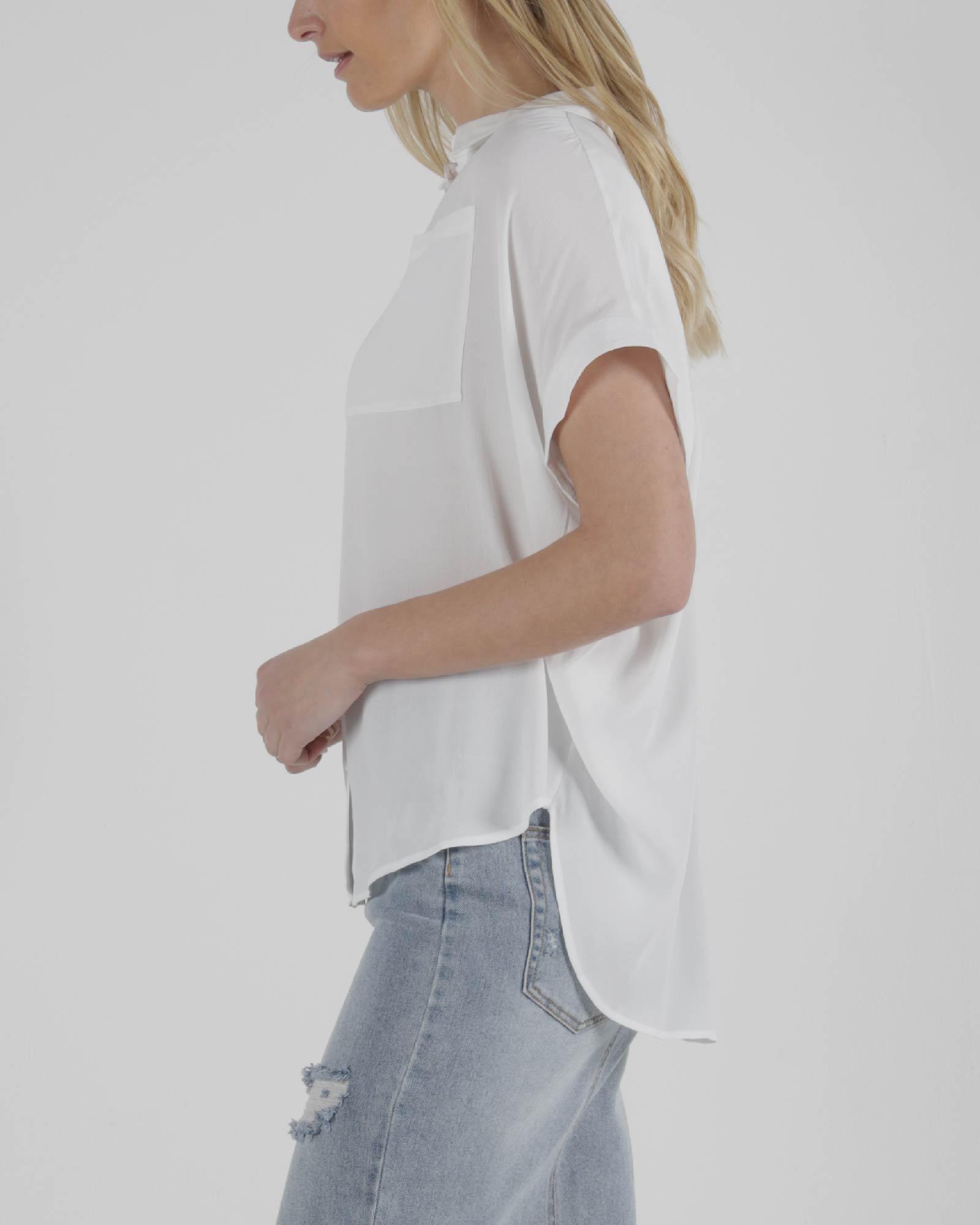 Sass Camille Shirt White
