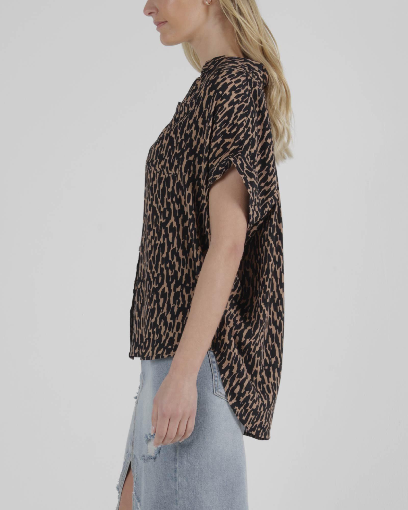 Sass Camille Shirt Animal Print