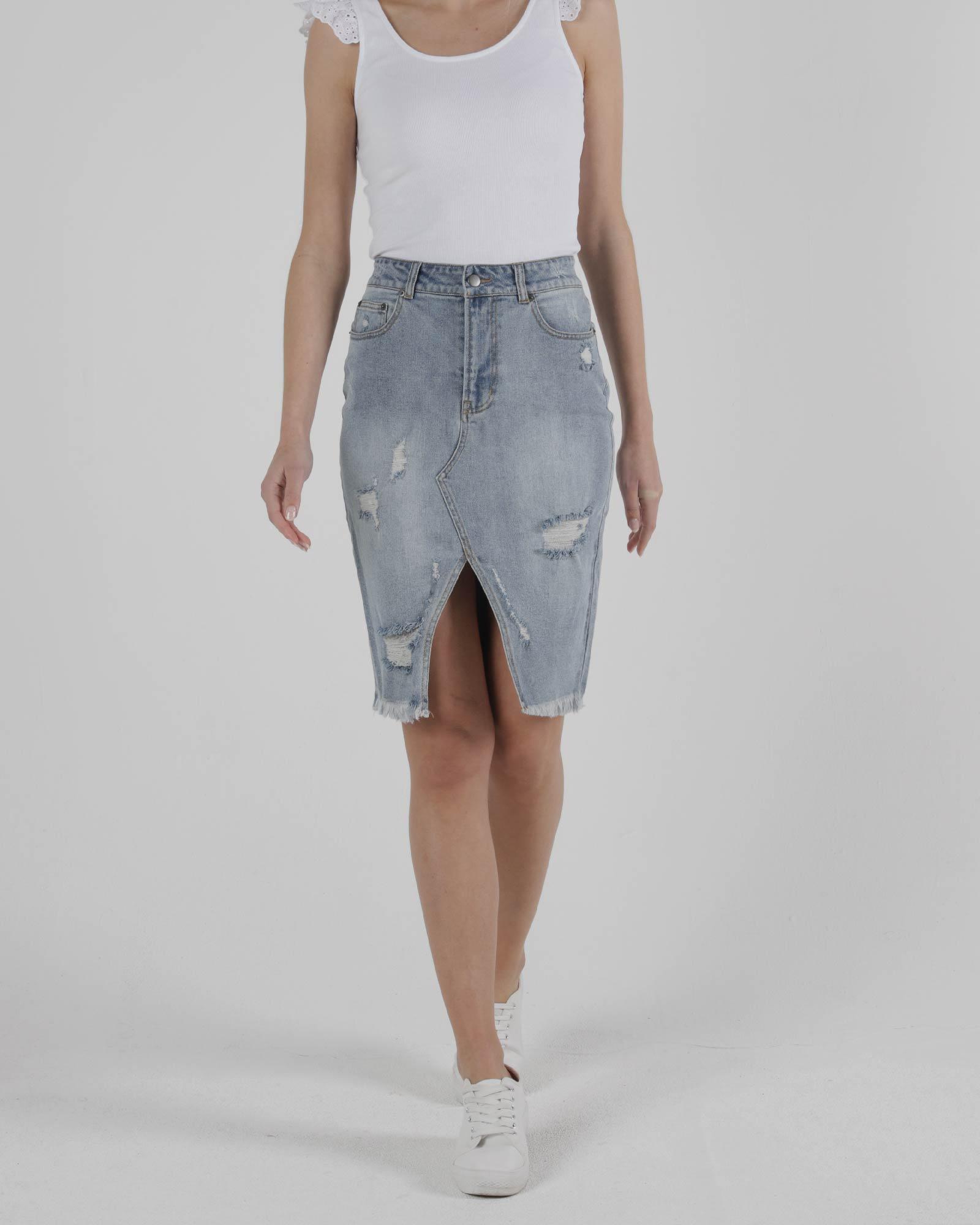 Sass Maxie Denim Skirt