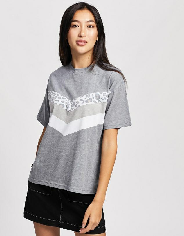 All About Eve Angled Cheetah Tee Grey