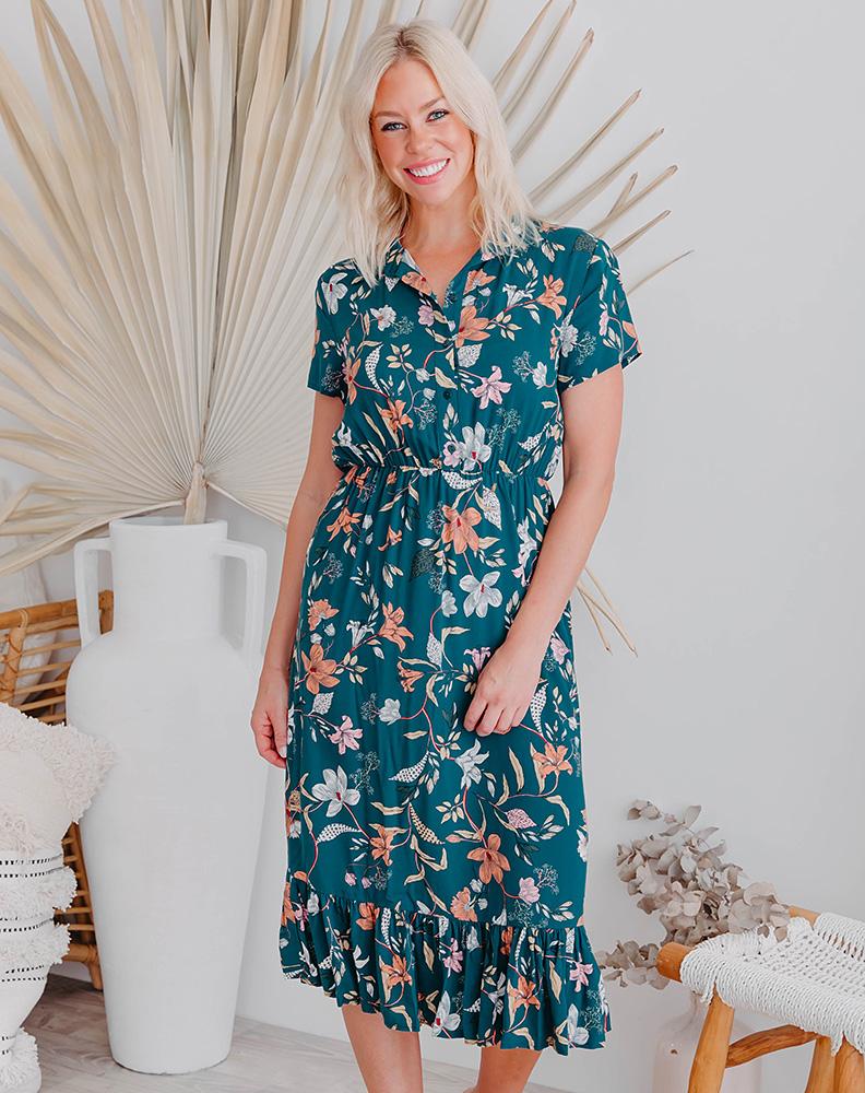Freez Midi Shirt Dress