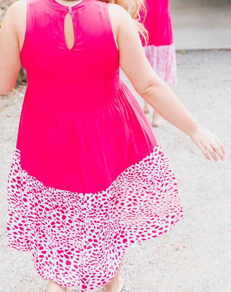 Freez Spliced Midi Dress