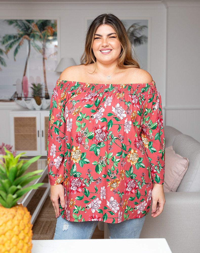 Freez Gypsy Top - Pink Floral