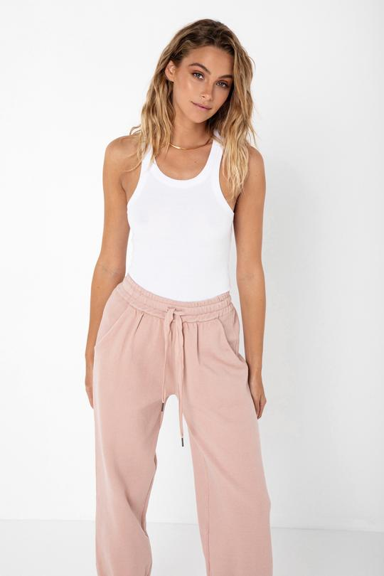 Madison The Label Helena Knit Joggers Pink
