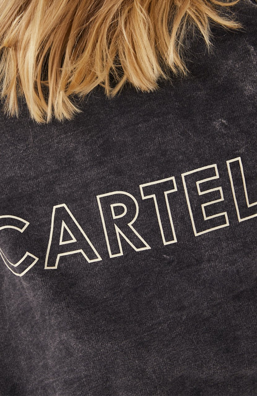 Cartel & Willow Izzy Sweater Charcoal Stonewash