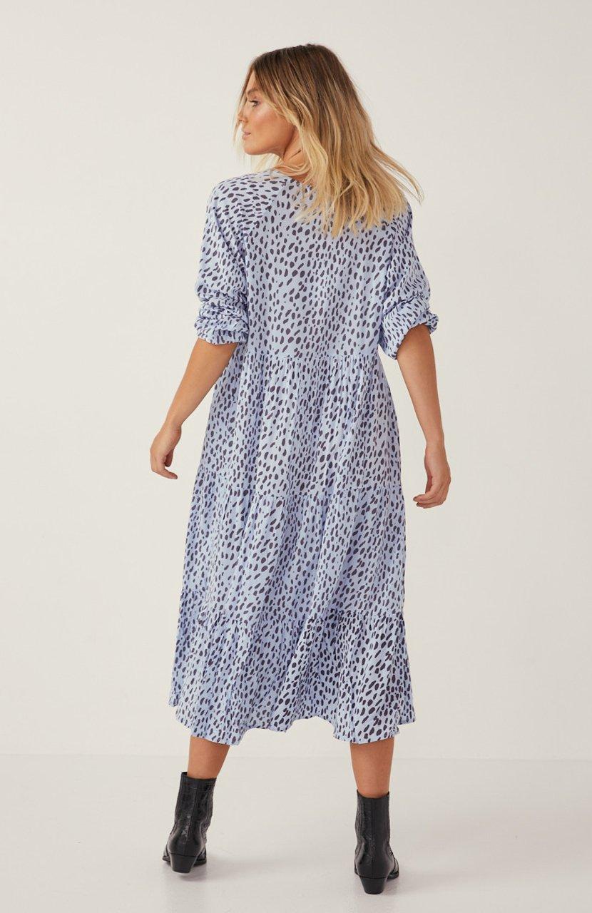 Cartel & Willow Cali Maxi Dress Blue Leopard