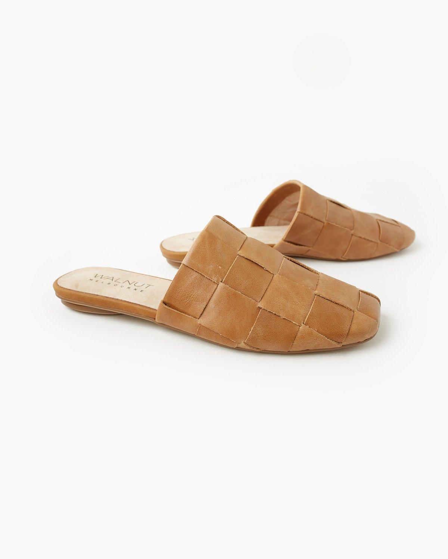 Walnut Melbourne Rommie Leather Mule Tan