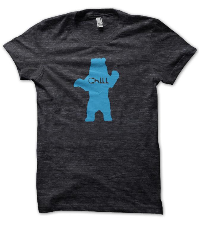 Chill Bear heather black t shirt